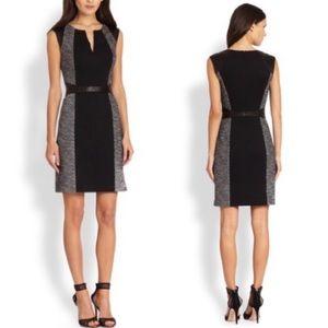 Rebecca Taylor Tweed & Twill Black Sheath Dress